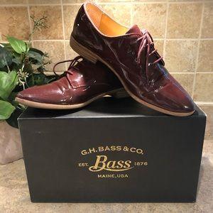 G.H.Bass & Co. Ella dark plum leather shoes, 8 M